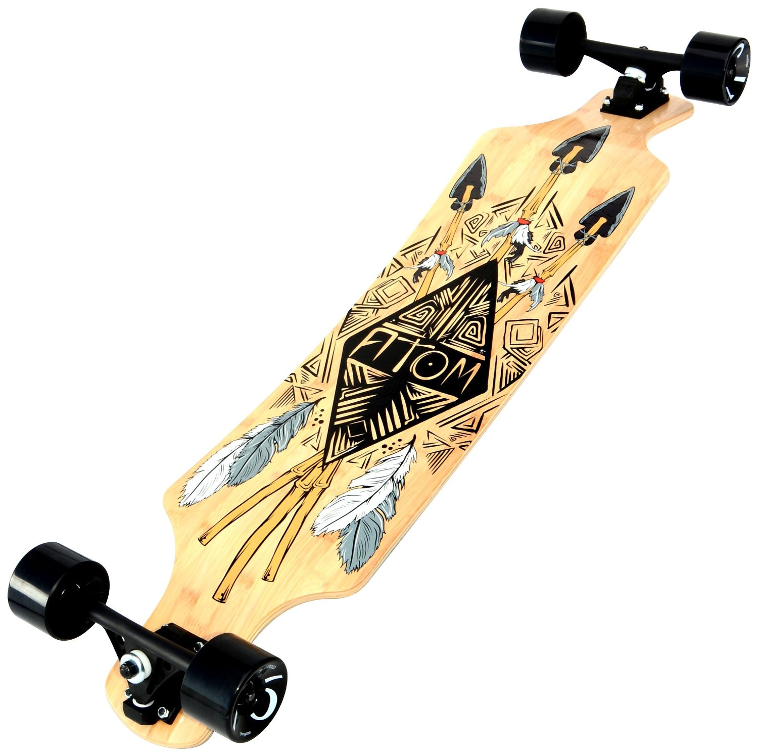 Atom Bamboo Drop Through Longboard 40 inch