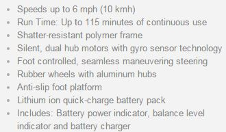 hovertrax specifications
