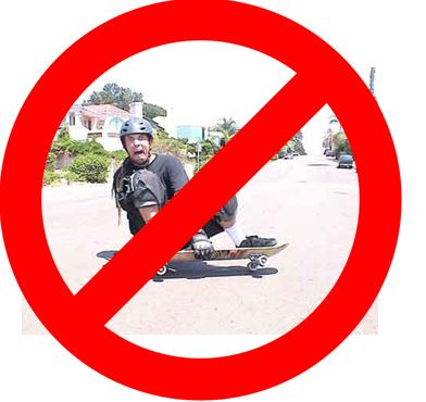 no grab longboard sliding